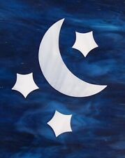 Handcrafted Moon & Stars Precut Mosaic Stained Glass Set  # 951