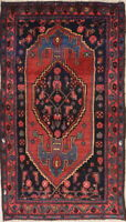 Antique Geometric Wool Hand-Knotted Malayer Tribal Persian Oriental Area Rug 3x6