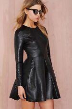 Nasty Gal Really Got Me Dress - Black Lamé Size S NG18