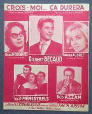 ►PARTITION - NANA MOUSKOURI // BECAUD // ISABELLE AUBRET // AZZAM // PIAF - 1962
