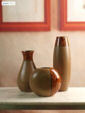 Decorative Vase Set of 3 Wood Table Floor Vases Home Office Living Room Decor