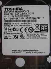 "Toshiba 750 GB MQ01ABD075 / AZA AB00/AX101U S/N:Y4N8P0BKT 2,5""  disco rigido"