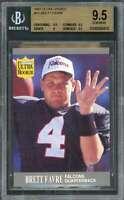 1991 ultra update #u1 BRETT FAVRE packers rookie card BGS 9.5 (9.5 9.5 9 9.5)