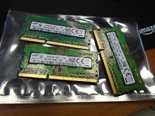 Lot of 3 Samsung 4GB 1Rx8 PC3L-12800S-11-13-B4 M471B5173DB0-YK0 Laptop Ram DDR3