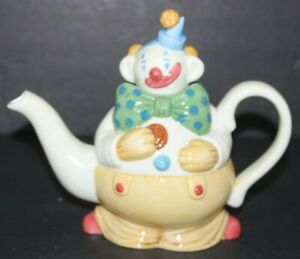 Department 56 Clown Teapot Cookies from the Cookie Jar Retired Retro Gift