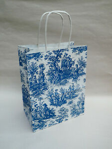 French Toile Paper Gift Bag -  Decorative Wrapping with a French Flair