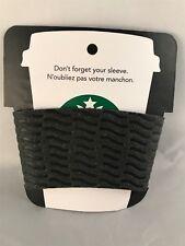 Starbucks Reusable  Cup Sleeve ~ Eco Black Leather Cardboard Texture