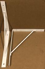 """Heavy Duty White Steel 11"""" x 10"""" Shelf Countertop Brackets"""