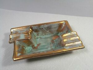 Vtg 1963 Hand Painted Stangl Terracotta Clay Art Pottery Ashtray
