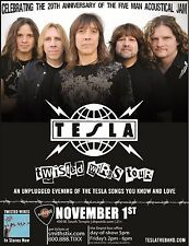 """TESLA """"TWISTED WIRES TOUR"""" 2011 SALT LAKE CITY CONCERT POSTER-Heavy Metal Music"""