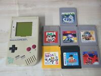 L756 Nintendo Gameboy Console Gray & Game Japan GB