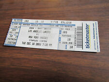 12/16 /2008   LAKERS VS. KNICKS  @ STAPLES CENTER TICKET STUB-NBA CHAMPS!