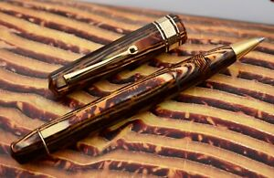 OMAS Paragon (Old Style) Extra Arco Brown (Bronze) Celluloid Rollerball Pen (RB)
