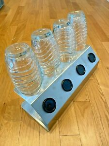 SodaNature | 4er Edelstahl Abtropfhalter/ Flaschenhalter SodaStream - Timeless
