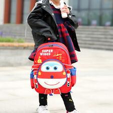 Boys Girls Kids Super Wings Backpack School Cartoon Bag 3D Rucksack Knapsack