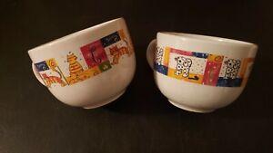 2x Large Pet Themed Ceramic Cups Royal Norfolk Coffee Soup Cat Dog Mug