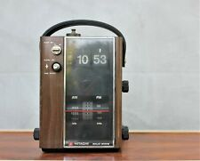 Vintage FM/AM Hitachi Transistor Digital Clock Radio Made in Japan 1973