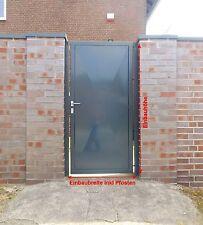 Pforte Tür Eingangstor Gartentor Hoftor Grau Beschichtet 105cm x180cm Sandbach $