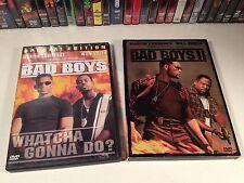 Bad Boys & Bad Boys II Lot 2 Action Comedy DVD Will Smith Martin Lawrence