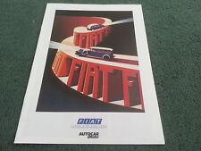 1988 Fiat UK AUTOCAR & MOTOR SUPPLEMENT 24p BROCHURE Panda Uno Regata Tipo Croma