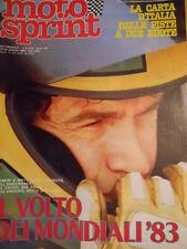 Motosprint 6 1983 Storia della ACERBIS - Carta geografica d'Italia PISTE [SC.31]
