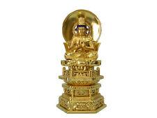 """HADAFUN Buddhism Statue """"DAINICHI NYORAI (Vairocana)"""" Wood Body"""