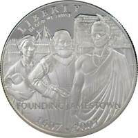 2007 P $1 Jamestown Commemorative Silver Dollar Coin Choice Proof