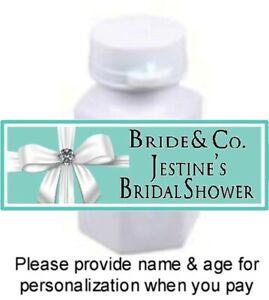 30 Tiffany & Co Blue Birthday Party Baby Bridal Shower Mini Bubble Label Sticker