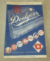 ☆ FLAWLESS Genuine 1951 Brooklyn DODGERS vs Philadelphia A's SCORECARD PROGRAM