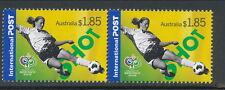 Australian Stamps: 2006 Soccer in Australia - Set of 2 $1.85 Internationals