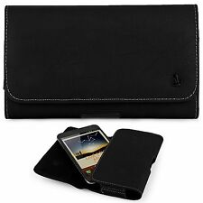 HTC Desire 626 626s ~ Horizontal Leather Pouch Case Holster Matte