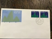 Canada 🇨🇦 Post Sc # 679 Christmas 1975 pair Fdc