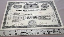 Gray less than 100 Shares PORTO RICO TELEPHONE COMPANY Telefonica PUERTO RICO