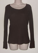 """Gap Chocolate Brown Long Sleeve Pull Over Top M Bust 34"""" Length 23 1/2"""""""