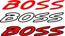 Custom Mazda Boss vinyl sticker in Black and Red 170mm x 30mm