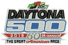 """Daytona 500 Patch 2018 60th Official Embroidered 4"""" NASCAR Racing Sew Iron On"""