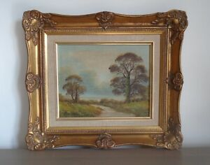 Landscape Painting by B. Watson in Ornate Gilt Frame