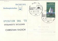 Germany Olympische Spiele Olympic Games 1972 Kiel card shippost Christian Radich