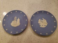 Wedgwood Blue Collector's Society Plate Battle of Concord Boston tea party set