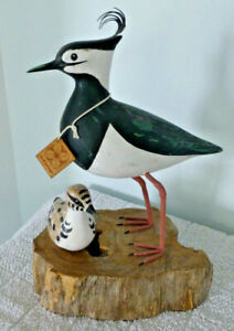 Archipelago Hand Carved Wooden Birds Lapwing Block