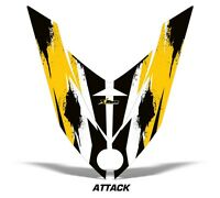 Sled Hood Graphics Kit Sled Decal Wrap For Ski Doo Rev XP Summit 08-12 ATTACK Y