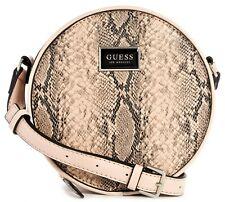 NWT GUESS SIMMONS HANDBAG Snake Round Case Logo Crossbody Shoulder Bag GENUINE