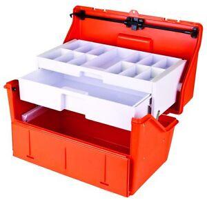 FLAMBEAU TRUAMA DRUG KIT 2 SHELF TACKLE BOX EMS EMT PARAMEDIC DRUG BOX