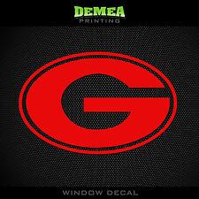 "Georgia Bulldogs G - NCAA - Red Vinyl Sticker Decal 5"""