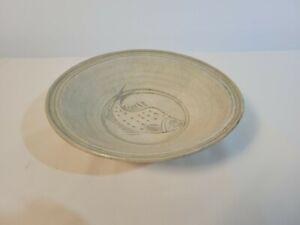 White and Blue Glazed Dish from Sawankhalok, Thailand (15th Century)