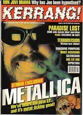 Metallica on Kerrang Cover 1996    Jon Bon Jovi   The Foo Fighters   Sean Yseult