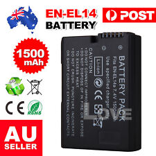 EN-EL14 1500mAh Backup Battery For Nikon Camera D3100 D3200 D5100 P7000