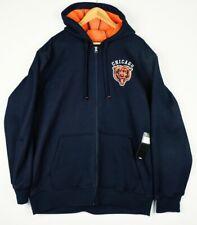 NFL Team Apparel Chicago Bears Waffle Mesh Fleece Lined XXL Hooded Jacket w Tags