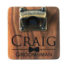 Personalized Vintage Style Bar Beer Top Wooden Bottle Cap Wall Mount Opener l