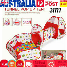 3 in 1 Play Tent Kidds Toddlers Tunnel Ball Pits Pool Set Baby Pops up Playhouse